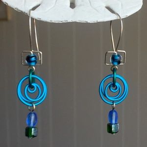 Jewelry - Wirework and Beaded Hanging Earrings